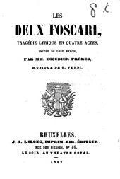 Les deux Foscari: tragédie lyrique en quatre actes