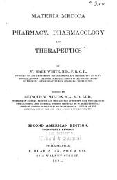 Materia Medica, Pharmacy, Pharmacology, and Therapeutics