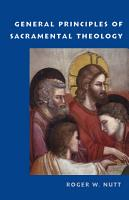 General Principles of Sacramental Theology PDF