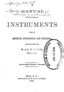Gurley Manual of Surveying Instruments     PDF