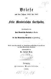Briefe aus den Jahren 1830 bis 1847: Briefe aus den Jahren 1833 bis 1847, Band 2