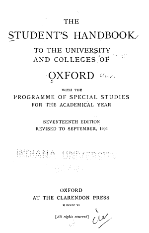 The Student s Handbook to the University and Colleges of Oxford PDF