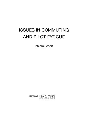Issues in Commuting and Pilot Fatigue