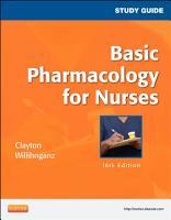 Study Guide for Basic Pharmacology for Nurses   E Book PDF