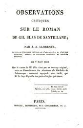 Observations critiques sur le Roman de Gil Blas de Santillane: On y fait voir Que le roman de Gil Blas n ́est ... précieuses