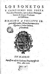 Los Sonetos y canciones del poeta Francisco Petrarcha