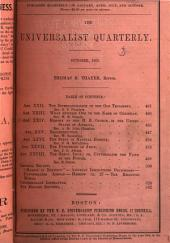 The Universalist Quarterly and General Review: Volume 22