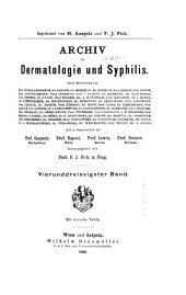 Archiv für Dermatologie und Syphilis: Band 34
