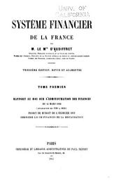 Système financier de la France: Volume 1