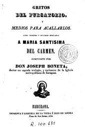 Gritos del purgatorio y medios para acallarlos: libro primero y segundo dedicados a María Santísima del Carmen