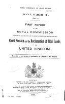 Report ... on Certain Questions Affecting Coast Erosion and the Reclamation of the Tidal Lands in the United Kingdom