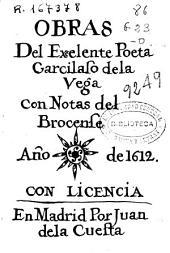 Obras del excelente poeta Garcilasso de la Vega