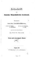 Zeitschrift der Deutschen Morgenl  ndischen Gesellschaft0 PDF