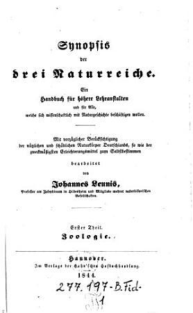 Synopsis der drei Naturreiche PDF