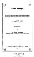 Anzeiger f  r Literatur der Bibliothekwissenschaft PDF