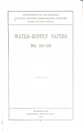 Surface Water Supply of the United States, Pt. V.: Hudson Bay and Upper Mississippi River Basins ... 1907/08-, Issues 245-249