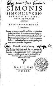 Antischegkianorum liber unus