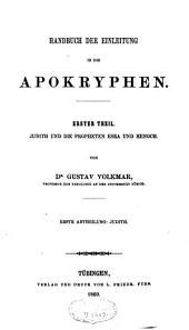 Handbuch der Einleitung in die Apokryphen: Band 1