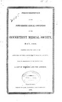 Proceedings of the Connecticut Medical Society     PDF