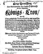Ewige Vermählung des ... Erz-Hauses Oesterreich mit der Ungarischen Königs-Cron ...