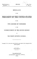 Message from the President of the United States to the two houses of Congress PDF