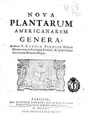 Nova plantarum Americanarum genera