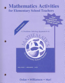 Mathematics Activities for Elementary School Teachers, Problem Solving Approach to Mathematics