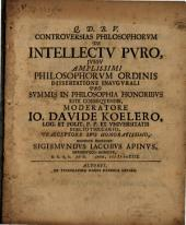 Controversias philosophorum de intellectu puro