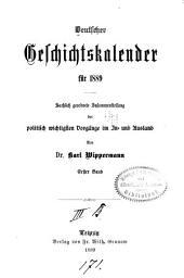 Deutscher Geschichtskalender: Band 1;Band 5