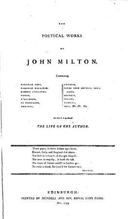A Complete Edition of the Poets of Great Britain    Milton  Cowley  Waller  Butler  Denham PDF