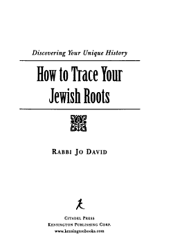 How to Trace Your Jewish Roots PDF