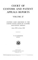 Court of Customs and Patent Appeals Reports PDF