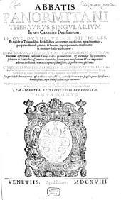 Commentaria: Thesaurus singularium in iure canonico decisivorum, Volume 9