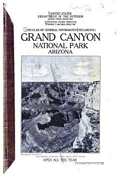 Circular of General Information Regarding Grand Canyon National Park  Arizona PDF