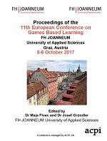 ECGBL 2017 11th European Conference on Game-Based Learning