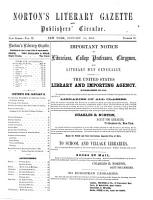 Norton s Literary Gazette and Publishers  Circular PDF