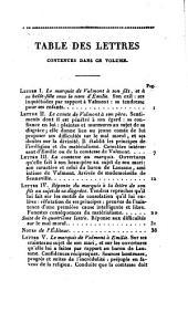 Le comte de Valmont ou les égarements de la raison: Volume1