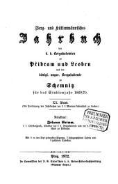 Berg- und hüttenmännisches Jahrbuch der K.K. Bergakademien zu Leoben und Přibram und K. Ungarische Bergakademie zu Schemnitz: Band 20