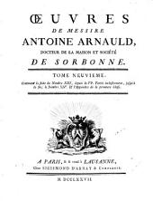 Oeuvres complètes, plus la vie de Arnauld