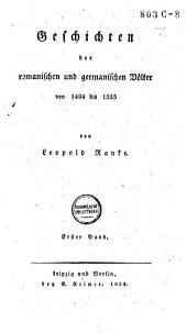 Geschichten der romanischen und germanischen Völker, von 1494 bis 1535: Band 2