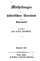 Mittheilungen des Historischen Vereines für Steiermark: Band 7