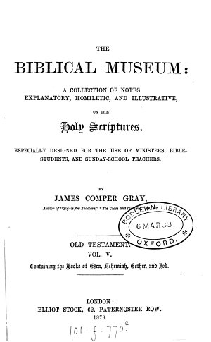 The biblical museum  Old Testament