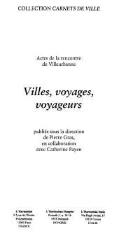 Villes, voyages, voyageurs