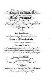 Historisch-topographische Beschreibung der königl. baier. Kreishauptstadt Passau und ihrer Umgebungen: verbunden mit ihrer Geschichte und einem Hand- u. Addressenbuche, Band 2