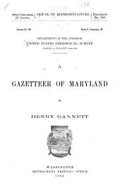 A Gazetteer of Maryland