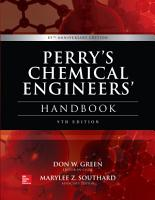 Perry s Chemical Engineers  Handbook  9th Edition PDF