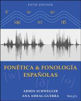 Fonetica Y Fonolog  a Espa    olas  Textbook PDF