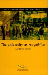 The University as Res Publica: Higher Education Governance, Student Participation and the University as a Site of Citizenship, Volume 638