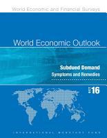 World Economic Outlook  October 2016 PDF