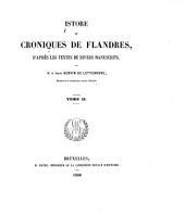 Istore et croniques de Flandres: d'après les textes de divers manuscrits, Volume2